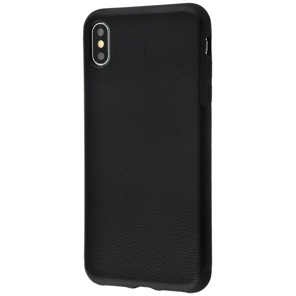 Накладка под кожу Grainy Leather iPhone Xs Max