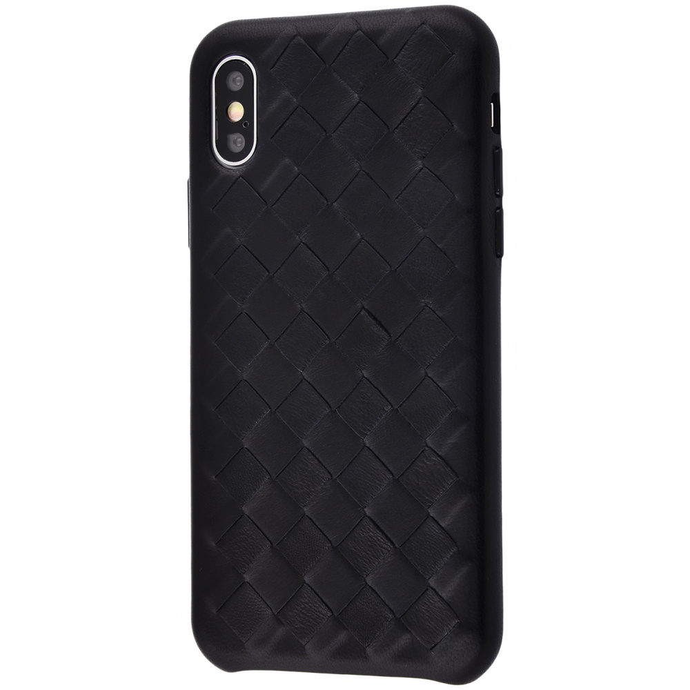 Natural Leather Weaving case iPhone Xs Max - фото 1