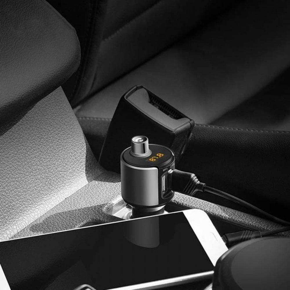 Автомобильное ЗУ Hoco E19 Bluetooth FM Launcher 2.4A 2USB - фото 4