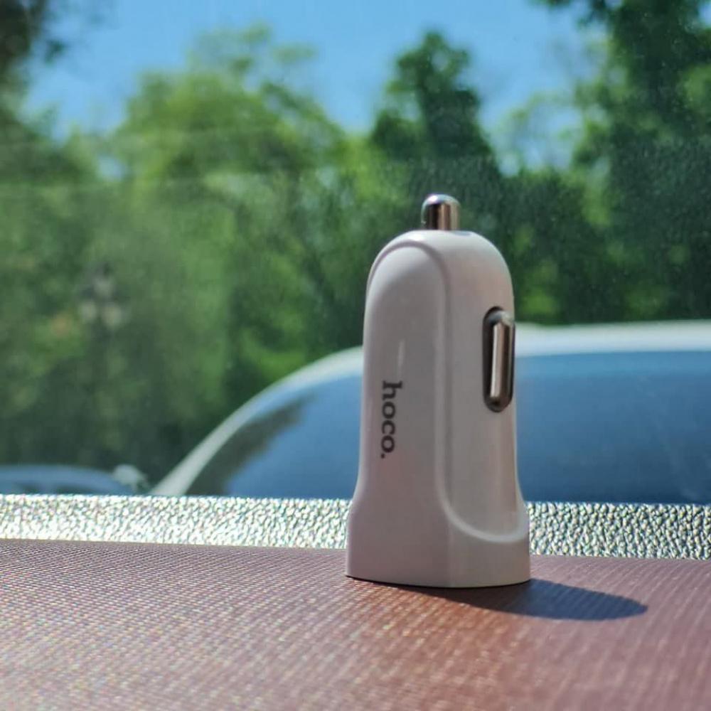 Автомобильное ЗУ Hoco Z2 Charger 1.5A 1USB - фото 5