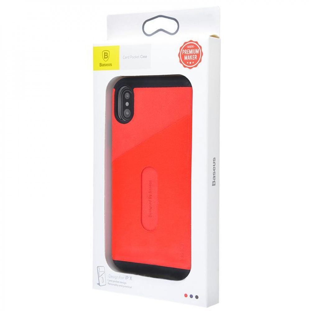 Baseus Card Pocket Case iPhone X - фото 1