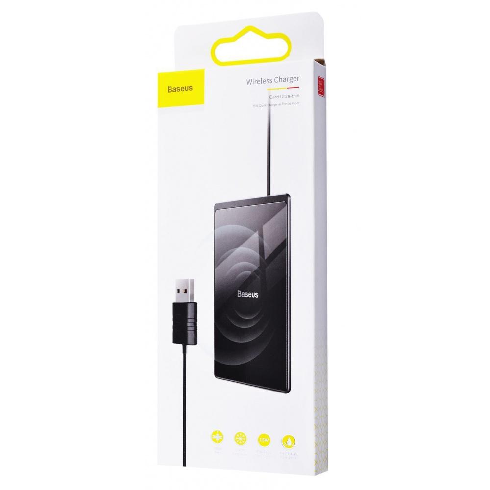 Беспроводное ЗУ Baseus Card Ultra-Thin 15W (with USB cable 1m) - фото 1