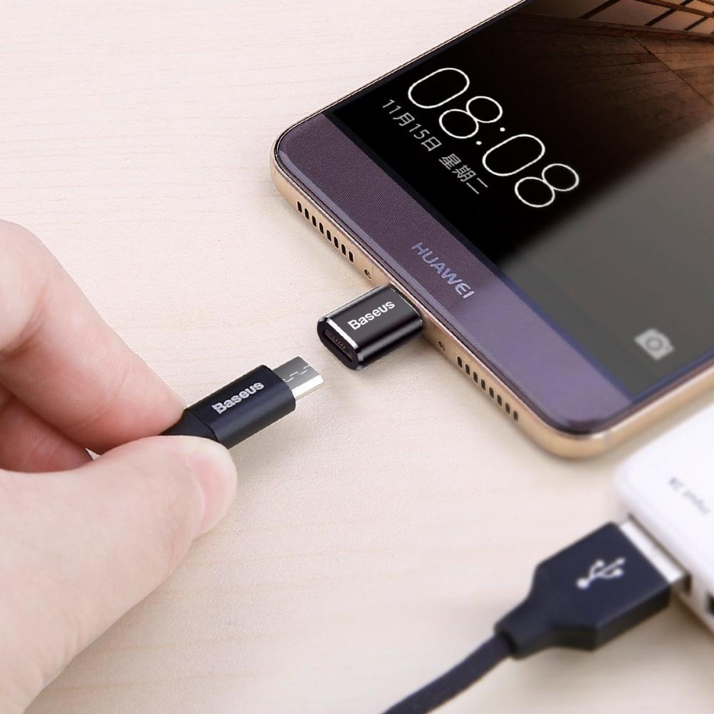 Переходник Baseus Type-C to Micro USB - фото 2