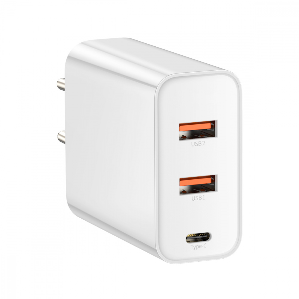 СЗУ Baseus PPS Three Output Quick Charger 60W (Type-C+2USB) - фото 4