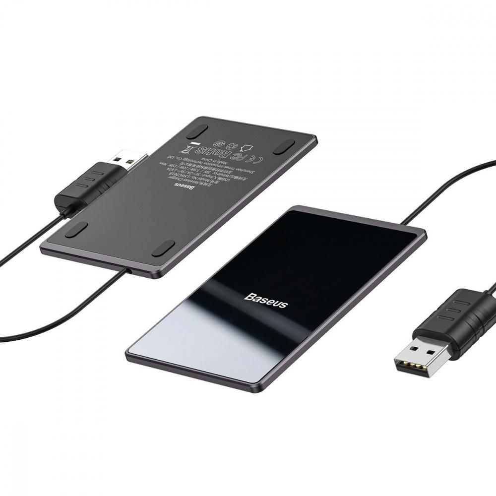 Беспроводное ЗУ Baseus Card Ultra-Thin 15W (with USB cable 1m) - фото 4
