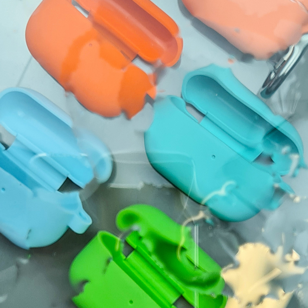 Silicone Case Slim with Carbine for AirPods Pro - фото 5