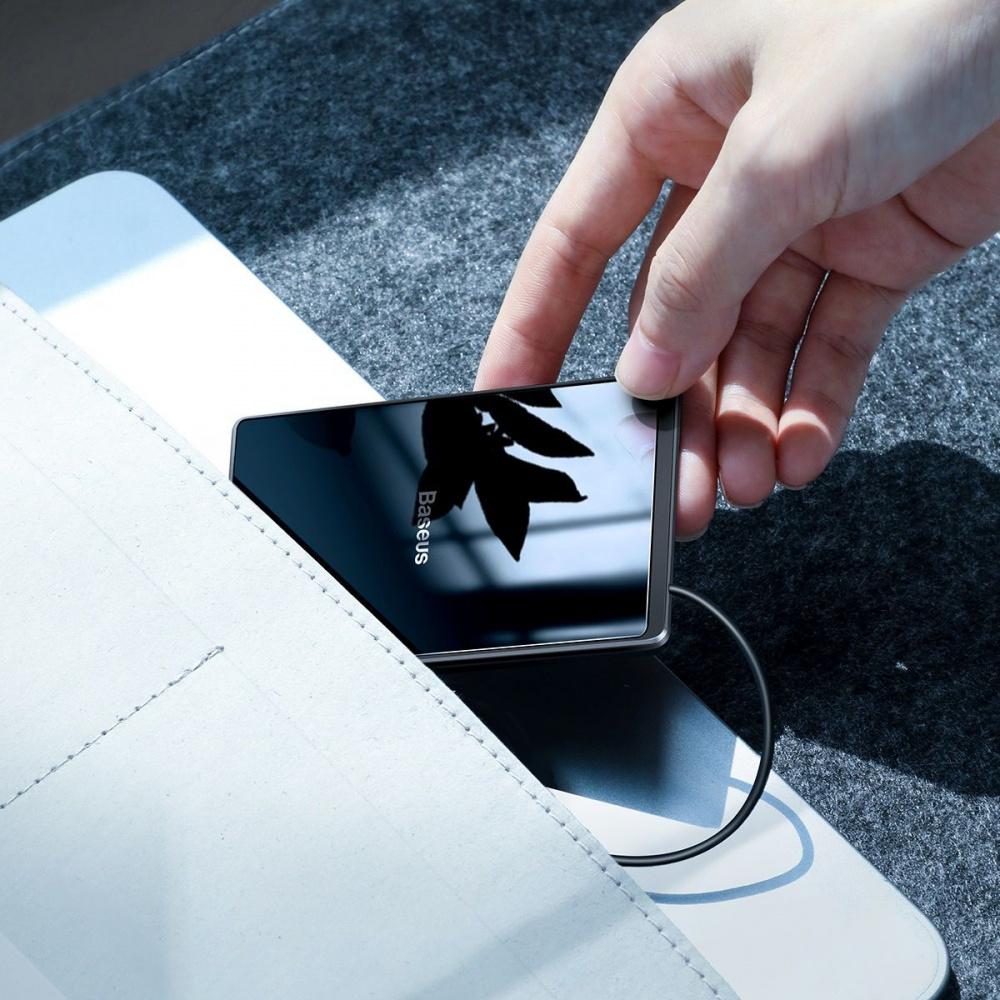 Беспроводное ЗУ Baseus Card Ultra-Thin 15W (with USB cable 1m) - фото 2
