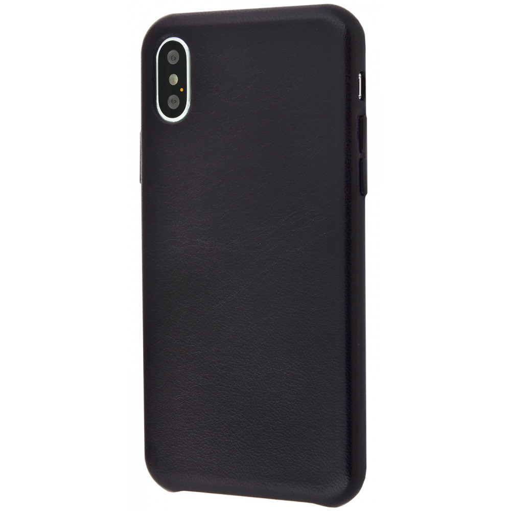 Natural Leather Smooth case iPhone Xs Max