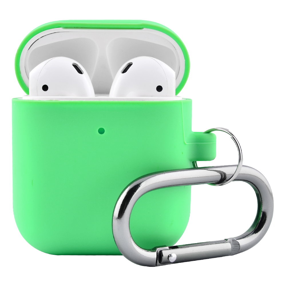 Silicone Case Slim with Carbine for AirPods 2 - фото 3