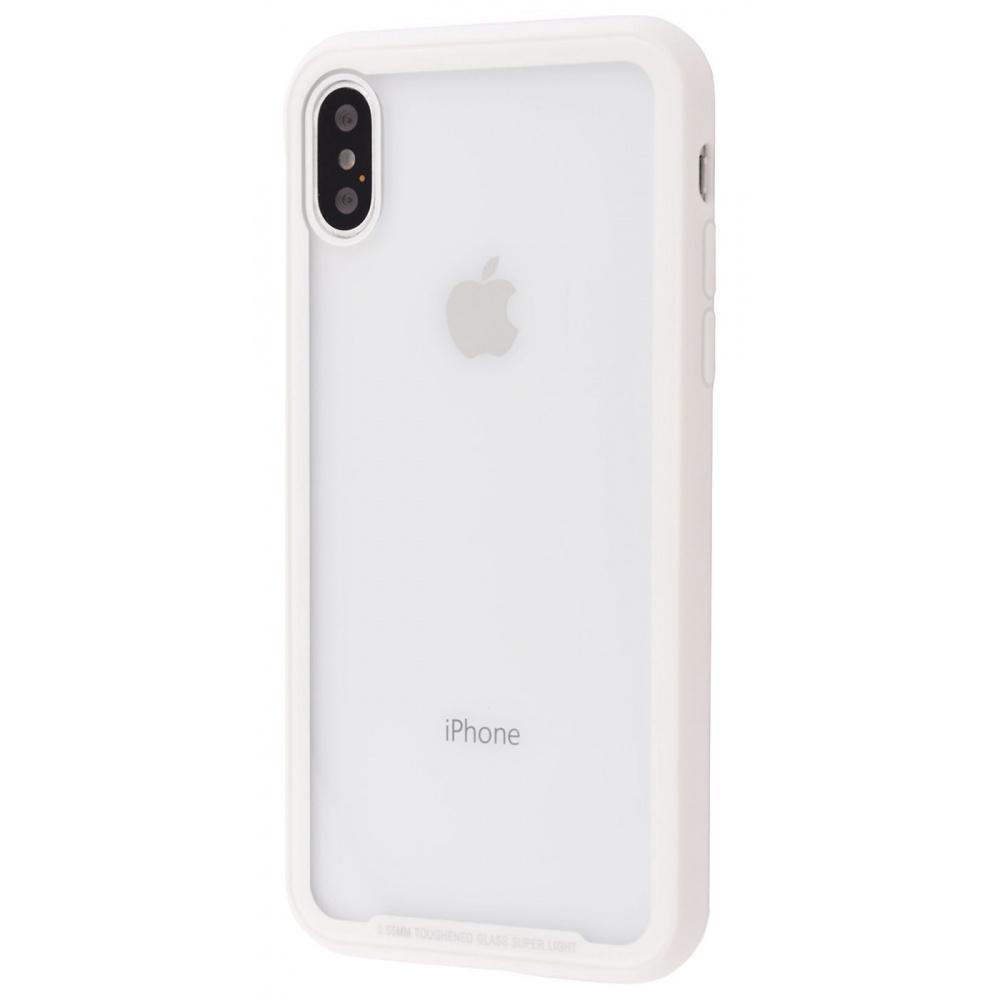 Transparent Glass case+TPU corners iPhone X - фото 1