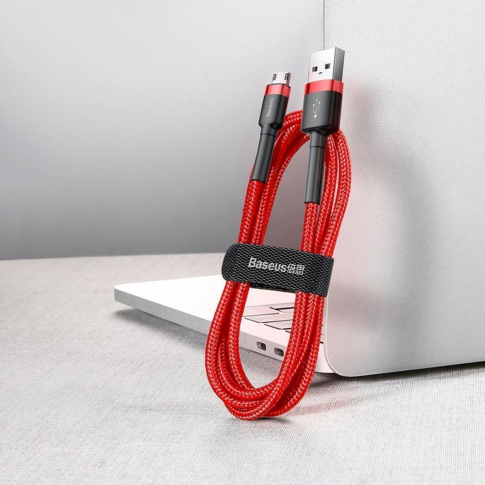 Кабель Baseus Cafule Micro USB 2.4A (1m) - фото 5