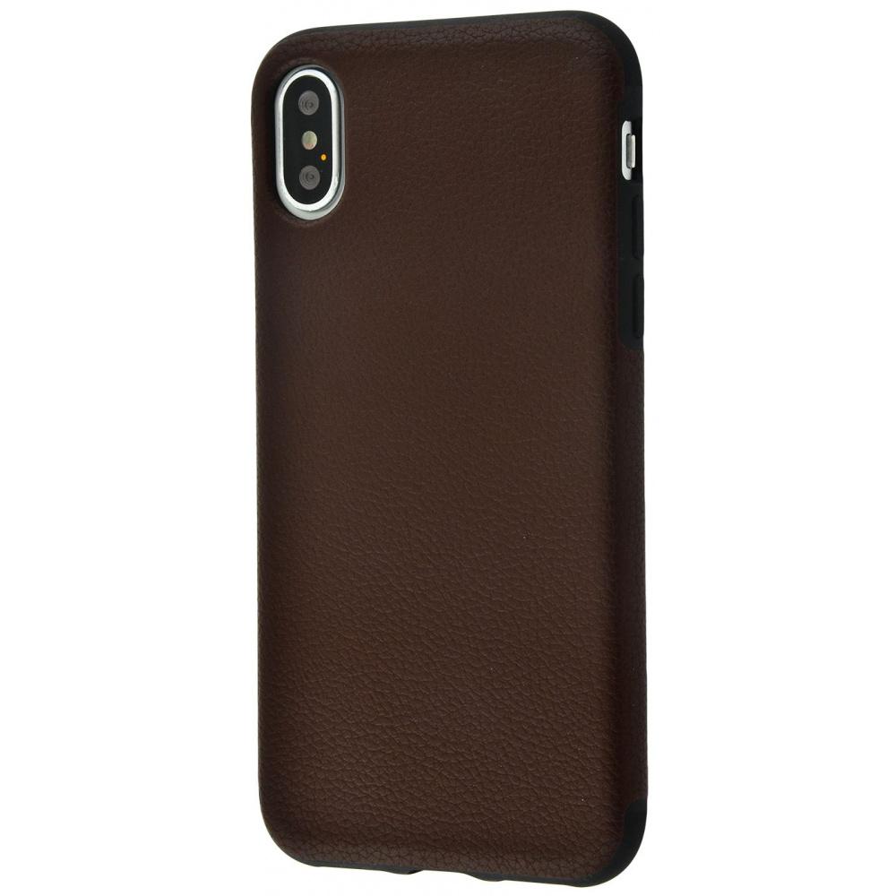 Накладка под кожу Grainy Leather iPhone X/Xs