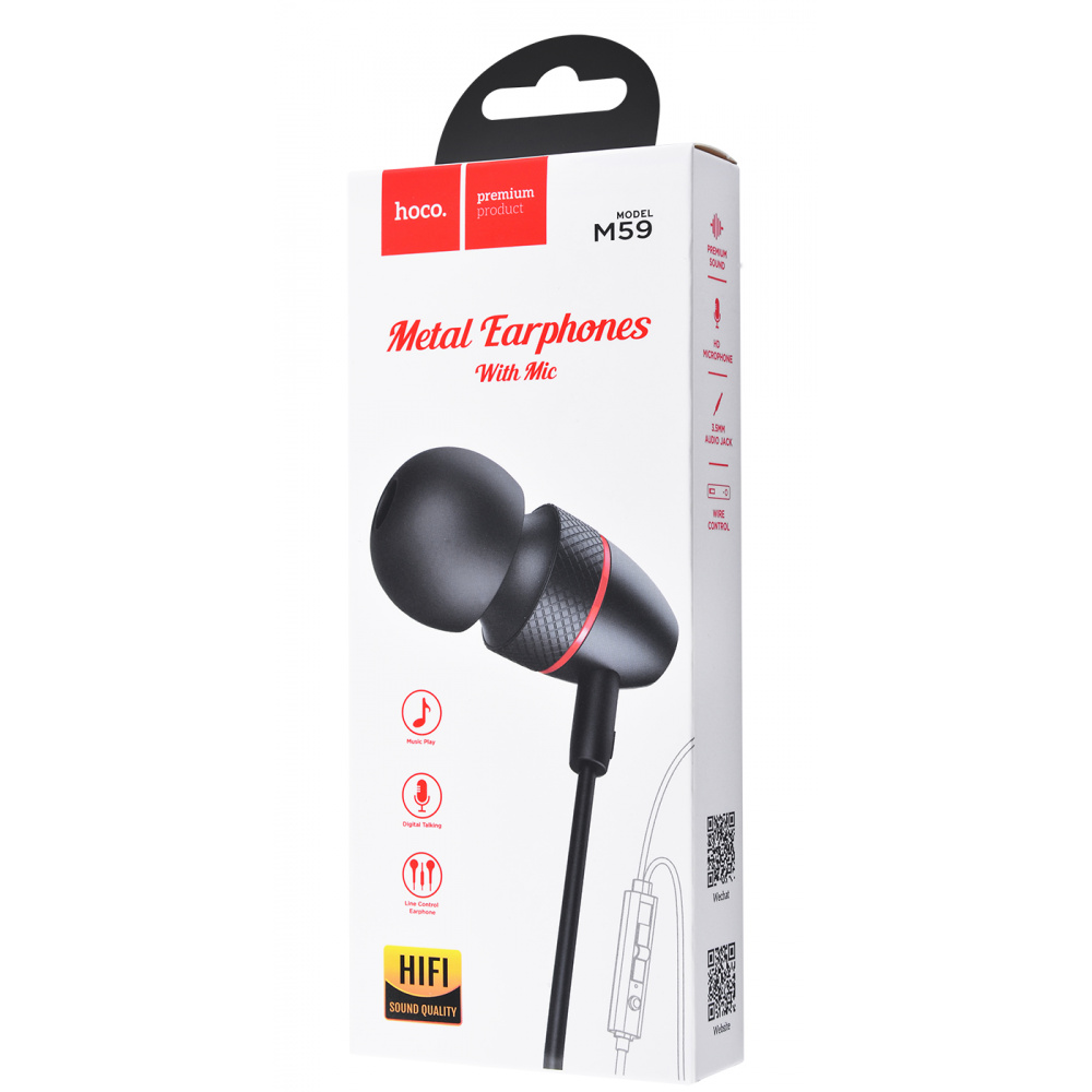 Наушники Hoco M59 Magnificent Universal With Microphone - фото 1
